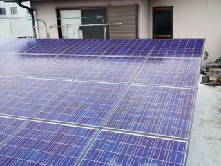 ベランダで太陽光発電