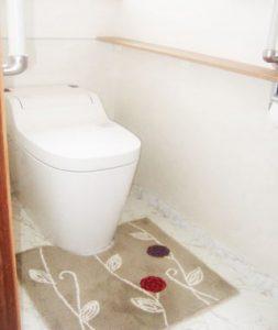 お掃除がしやすいトイレに!